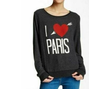 Wildfox I Love Paris Baggy Beach Jumper NWOT